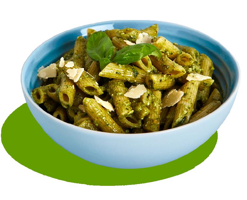 Big Salad Pesto Pasta