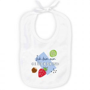 MEME | Baby Bib | Ich bin ein GLÜCKSKIND | 100% Organic Cotton
