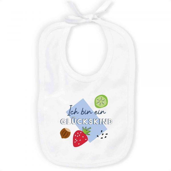 MEME   Baby Bib   Ich bin ein GLÜCKSKIND   100% Organic Cotton